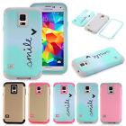 Hybrid Rugged Rubber Matte Hard Protective Case Cover for Samsung Galaxy S5 S V
