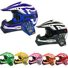 LEOPARD CHILDREN Kids Motorcross MOTOCROSS HELMET GOGGLES GLOVES Off Road ATV