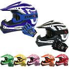 LEO Children Kids MOTOCROSS HELMET GOGGLES GLOVES Off Road ATV BMX Dirt Bike