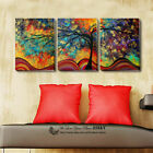 Set Of 3 Abstract Tree Stretched Canvas Prints Framed Wall Art Decor Painting