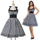 Halter Summer Housewife Vintage Retro 50's Swing Party Pinup Dresses