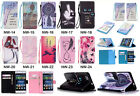 Strap Leather Wallet Card Holder Case Rubber Stand Cover For Samsung Iphone YB