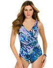 Miraclesuit Rattled Oceanus Purple Soft Cup Swimsuit 364488