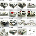 Family & Friends theme floating charms for living glass memory floating lockets