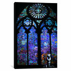 Banksy Stained Glass Window II | Canvas Art Print