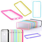 Slim TPU Frame Case Clear Hard PC Matte Back Cover Skin for Apple iPhone 6 Plus