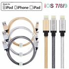 LP Apple MFI Braided Lightning to USB Cable Charger fr iPhone 7 6S 6 5s SE iPad4