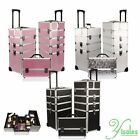 BEAUTY CASE TROLLEY NDED MAKE UP VALIGIA COFANETTO NAIL ART PORTA ALLUMINIO