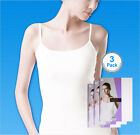 SBW Try Underwear Women Sleeveless Smart Camisole Tank Top 100% Cotton 3pack