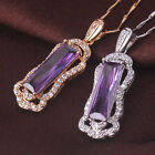 Chain charms Pendant 18k gold/white gold filled fashion purple sapphire necklace