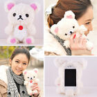 3D Cute Doll Toy Teddy Bear Cell Phone Cover Case For Apple Samsung Smart Phones