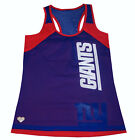 Nfl Womens Apparel -New York Giants Racerback Mesh 2-Layer Halter Top....nwt