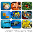 OCEAN EXOTIC FISH CUSTOM MOUSE PAD PERSONALIZED PHOTO FAMILY MOUSEPAD  (FM-03)
