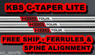 *NEW* KBS C TAPER LITE .355 SHAFTS- YOU PICK CONFIGURATION -- STIFF S FLEX