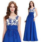 PLUS SIZE BLUE Long Prom Dress Formal Party Evening Gown Bridesmaid Ball WEDDING