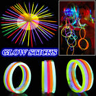 Premium Glow Sticks Bracelets Neon Light Glowing Party Favors Rally Raves Lot