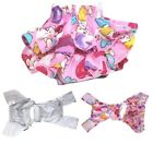 Dog Puppy Pet Diaper Skirt Pants Female COTTON Ruche for SMALL Breeds Pink Bear