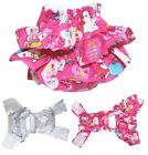 Dog Puppy Pet Diaper Skirt Pants Female Girl COTTON Ruche for SMALL Breeds Pink
