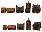 Miniature Houses-15mm Unpainted Models-Medieval Style Village-Gaming-Garden-NEW