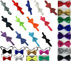 Plain colour pretied bow ties good quality. Satin. Many colours. Adjustable size