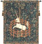 Unicorn In Captivity II (With Border) Fine Belgium Wall Tapestry Free HangingRod