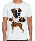 New Womans Mens Unisex Boxer  Dog  Cotton T Shirt