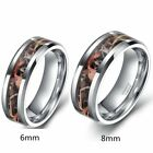 Men's Women's Tungsten Men's Forest Real Tree Camouflage Camo Wedding Band Ring