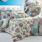 Ethnic Oriental Flowers Duvet Cover Set with Patchwork Reverse - Multi Coloured