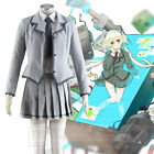 Assassination Classroom Ritsu School Uniform Cosplay Costume Full Set