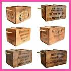 Rustic Vintage Wooden Lidded Chests Boxes Crates Trugs Country Kitchen Storage