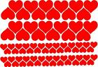 HEART shaped Stickers 74x 40,20mm - Wall Laptop - Vinyl Decal Hearts Sticker Art