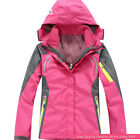 New Women Winter Outwear Ski Snow Waterproof Climbing Hiking 2in1 Outdoor Jacket