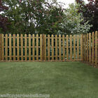 Wooden Garden Fence Fencing Panels Pressure Treated Round Top Picket 3ft 4ft
