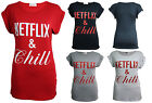 Netflix and Chill T-Shirt - Funny Parody Joke Cool Tumblr Gift Ladies Top Tee