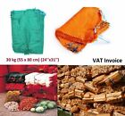 50 x Net Woven Sacks Vegetables Logs Kindling Wood Log Mesh Bags 55x80cm 30 kg