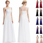 STOCK New White Bridesmaid Evening Party Ball Cocktail Gown Prom Dress Size 6-20