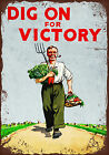 Vintage style Dig on for Victory decorative metal sign tin wall door plaque gift $9.81 USD on eBay