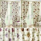 Vernon Curtains Floral Trail Flowers Ready Made Pair Lined Pencil Pleat