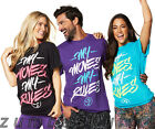 ZUMBA FITNESS My Moves My Rules Tee BLACK BLUE PURPLE T-shirt - NEW!!!