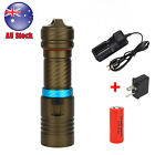 Waterproof 5000LM CREE XM-L2 LED Scuba Diving Flashlight Torch Lamp 26650+Charge