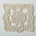 Square Handmade Crochet Lace Floral Vintage Doily,  Sold by Piece,  2 Colors