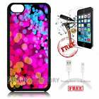 iPhone 5C Case Cover Tempered Glass Film A3328 Pattern