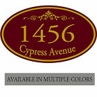 Personalized Home Address Metal Aluminum Plaque 7 x 12 Inches Custom Made