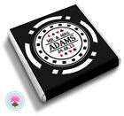 Personalised MR & MRS Poker Chip, Las Vegas, Casino Wedding Favour Chocolates