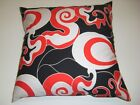 """cartoon candy skull swirl print & black cotton cushion cover17""""x17"""" scatter new"""