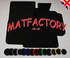 SEAT IBIZA 2008 onwards black tailored car mats S92 COLOURED BINDING