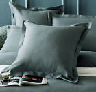 New 100% cotton Luxury Waffle European Pillowcase Cushion cover Grey Green 65x65