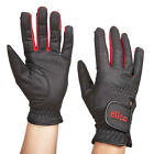 ELICO MATLOCK LADIES SOFT LIGHTWEIGHT RIDING GLOVES - BLACK / RED -SMALL, MEDIUM