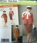 Simplicity Sewing Pattern 2154 Ladies Retro 60's Suit Jacket Skirt Top Pick Size