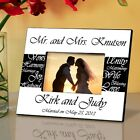 """Mr and Mrs Personalized Wedding Picture Frame 8"""" x 10"""" Free Shipping"""